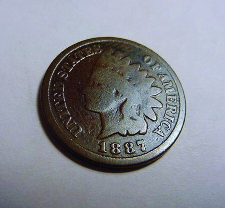 1887 INDIAN CENT