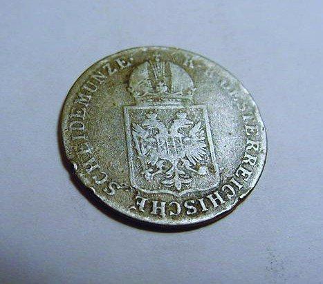 1848 AUSTRIA 6 KREUZER SILVER COIN
