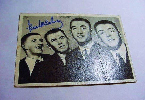 ORIGINAL BEATLES CARD