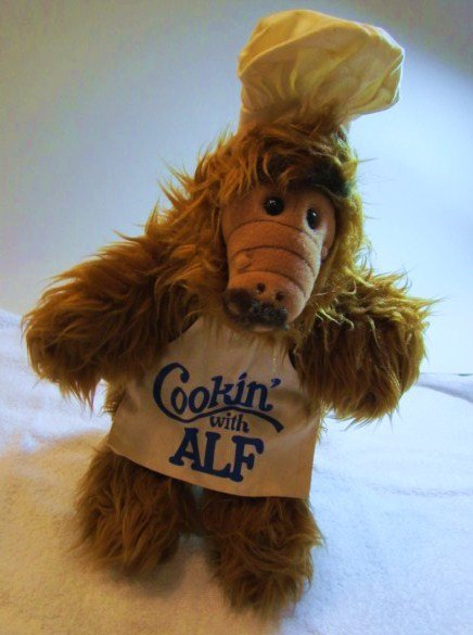 1988 COOKING WITH ALF DOLL  BY  ALIEN PRODUCTIONS