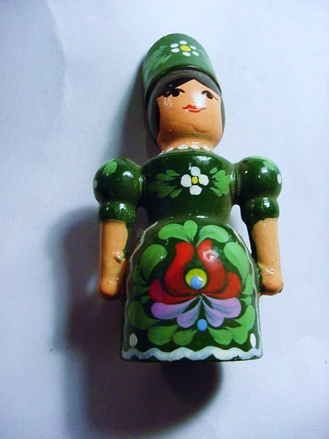 VINTAGE RUSSIAN PAINTED WOOD DOLL