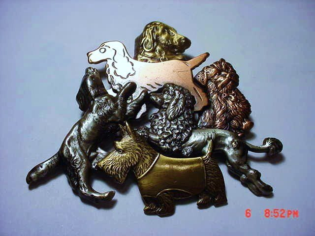 UNUSUAL VINTAGE BY K & T DOG PIN