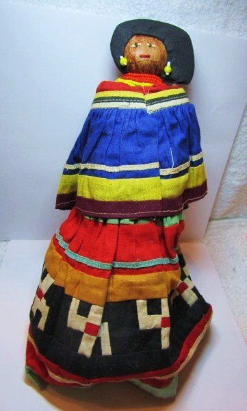 """SEMINOLE HAND MADE INDIAN DOLL 10"""" INCHES"""
