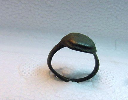 ANCIENT ROMAN BRONZE RING SIZE 7
