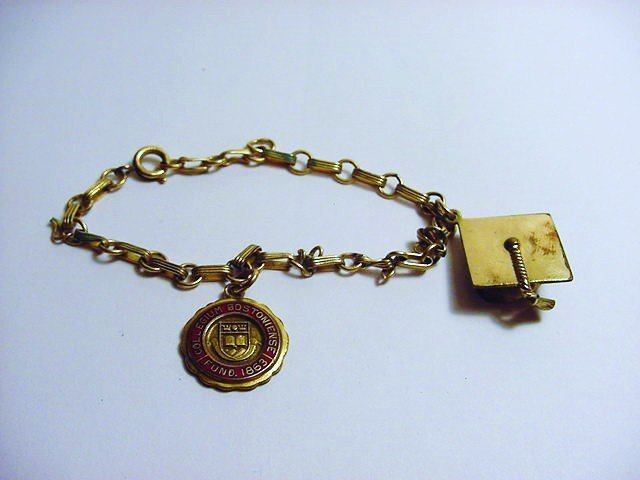 VINTAGE BOSTON UNIVERSITY GOLD FILLED BRACELET