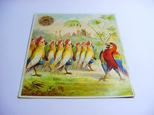 VICTORIAN ADVERTISING CARD