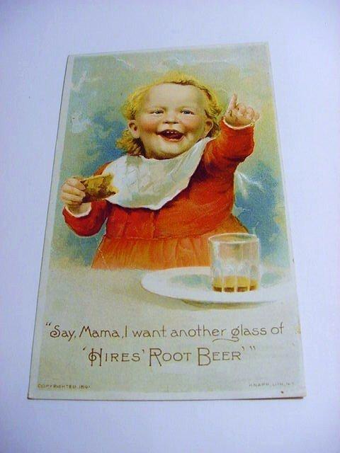 VINTAGE HIRE'S ROOT BEER ADVERTISING CARD