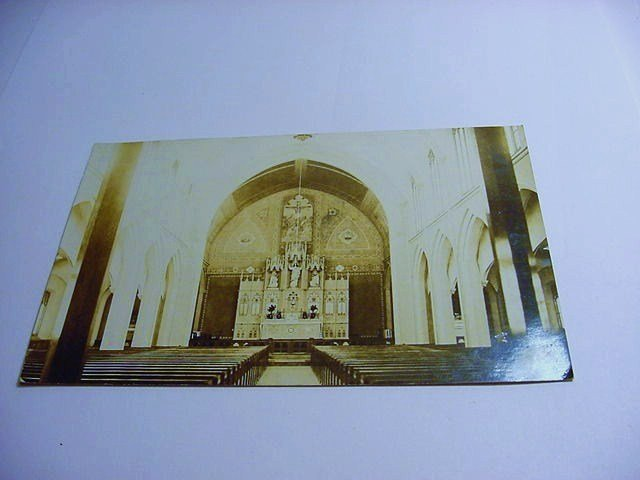 CHURCH INTERIOR PHOTO POST CARD