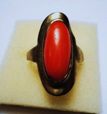 VINTAGE CORAL RING SIZE 8.5