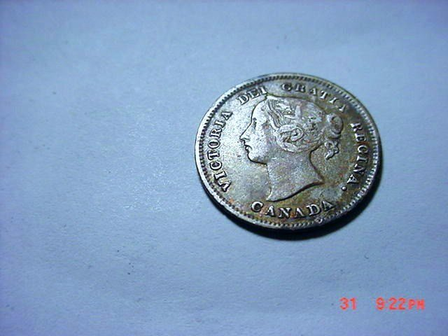 1888 CANADA 5 CENTS