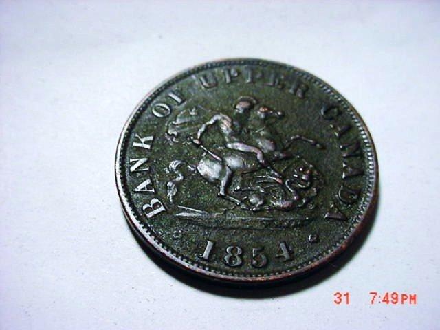 1854 CANADA BANK TOKEN