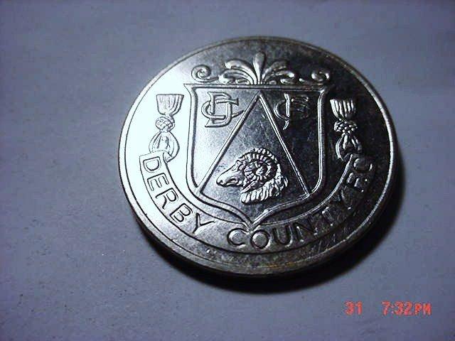 1972 DERBY COUNTY F.C. MEDAL