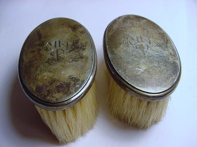 [2] ANTIQUE TIFFANY STERLING BRUSHES