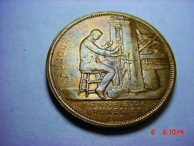 1910 MONEY OF BRUSSELLS MEDAL
