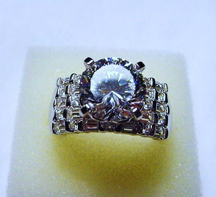 STERLING CZ RING SIZE   10