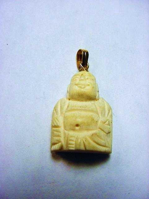 Vintage carved ivory buddha pendant mozeypictures Choice Image