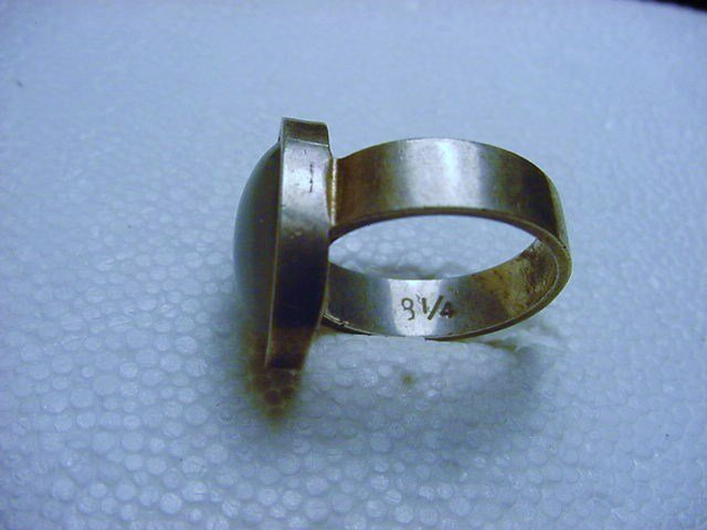 VINTAGE STERLING SILVER MOOD RING SIZE  8 - 6