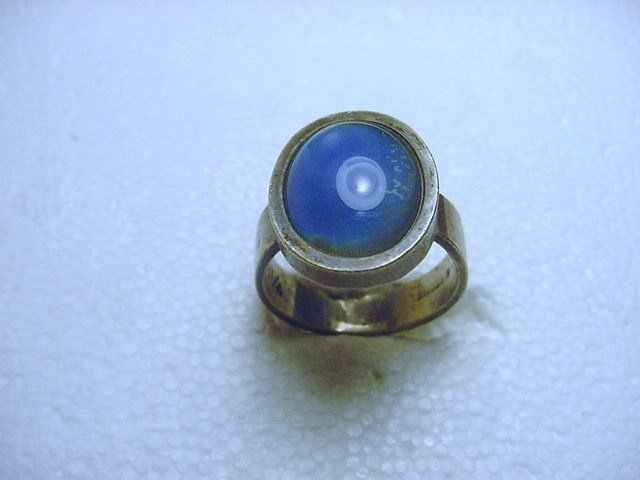 VINTAGE STERLING SILVER MOOD RING SIZE  8 - 7