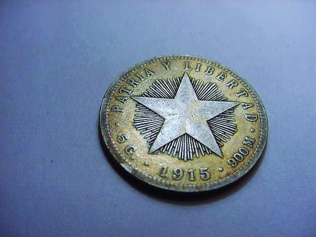 1915 CUBA 20 CENTAVOS