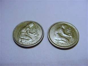 1949 F & J GERMANY 50 PFENNINGS