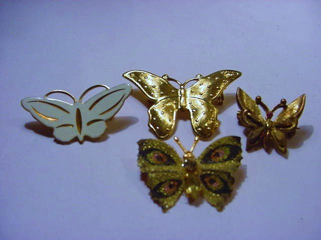 [4] VINTAGE BUTTERFLY PINS
