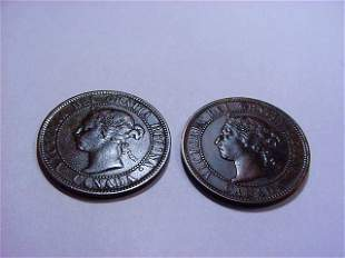 1900 & 1901 CANADA VICTORIA LARGE CENTS