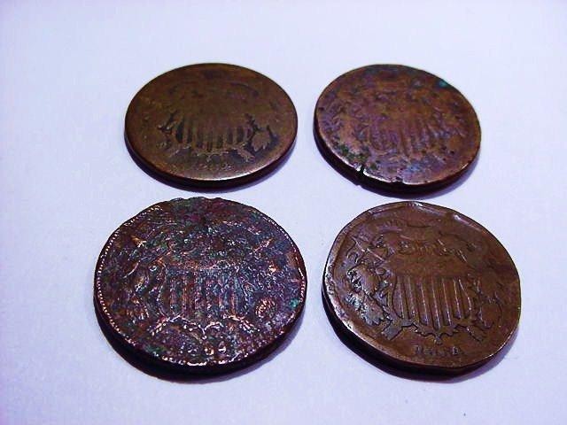 [4] 1864 2 CENT PIECES