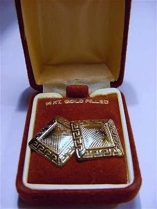 14K GOLD FILLED EARRINGS IN ORIGINAL BOX