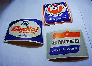[3] VINTAGE AIRLINES STICKERS