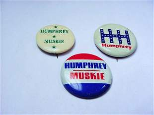 [3] HUMPHREY CAMPAIGN BUTTONS