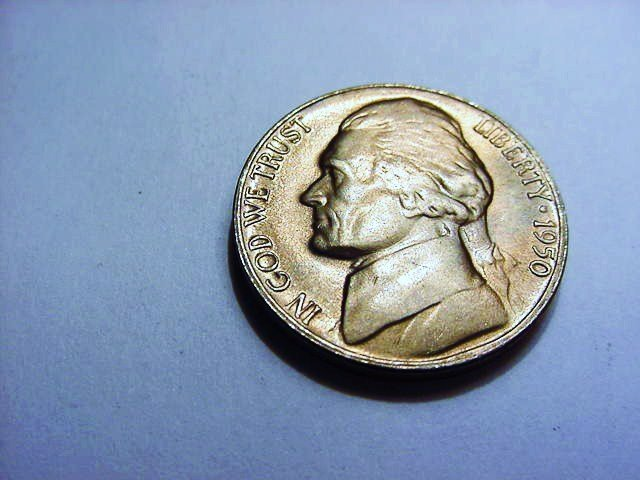 1950-D JEFFERSON NICKEL GEM B.U.