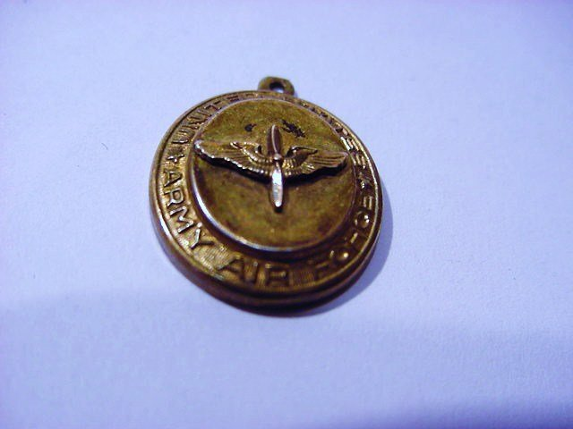 WWII ARMY AIR FORCE STERLING PENDANT
