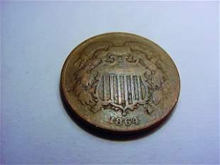 1864 2 CENT PIECE