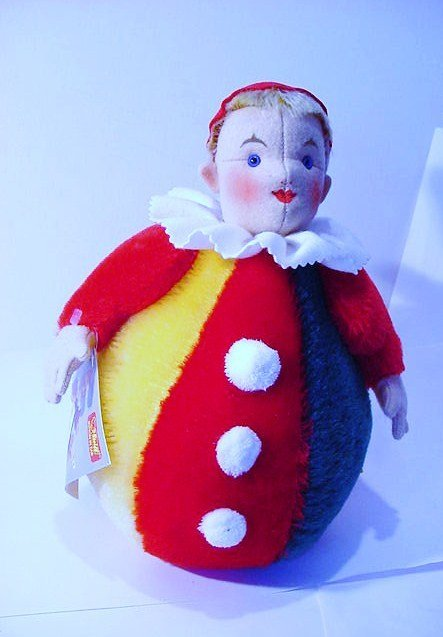 AUTHENTIC  STEIFF ROLY-POLY  REPLICA CLOWN [0116/28 ]