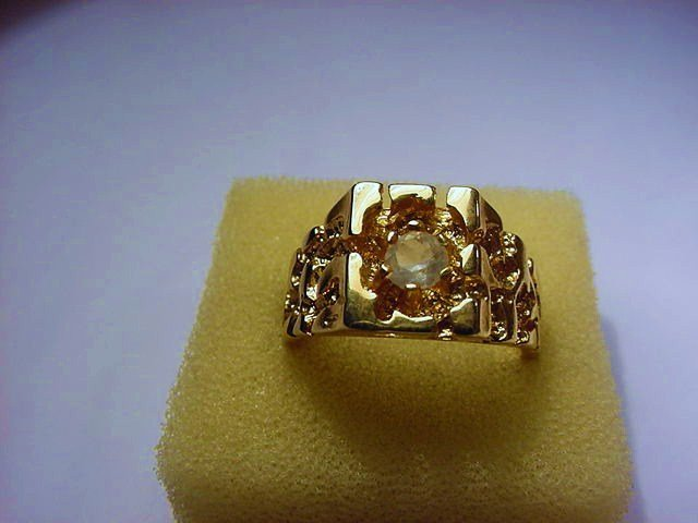 14K GOLD PLATED RING SIZE  10.5