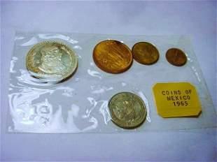 1965 MEXICO COIN SET