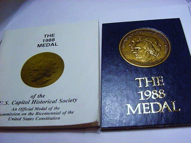 1988 U.S. CAPITOL BRONZE MEDAL UNC