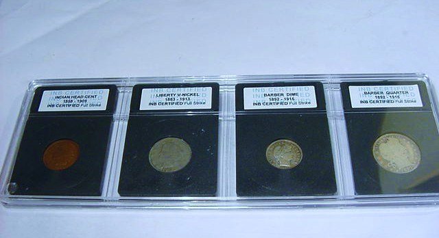 EARLY CERTIFIED COIN LOT