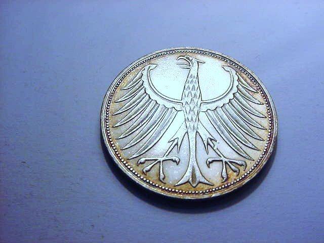 1972 GERMANY 5 MARK GEM B.U.