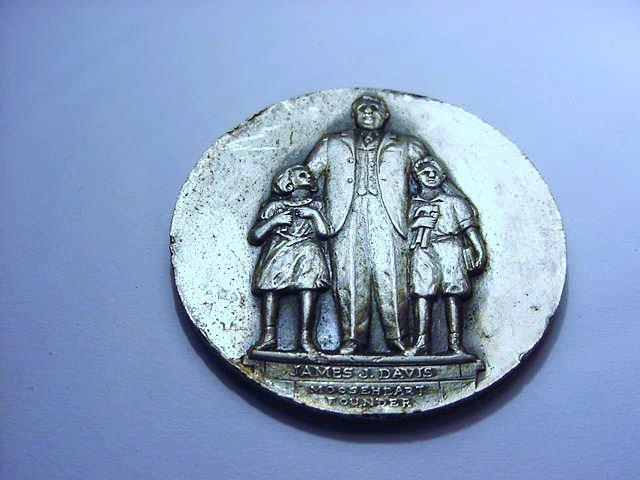 1938 MOOSEHEART NAMED MEDAL