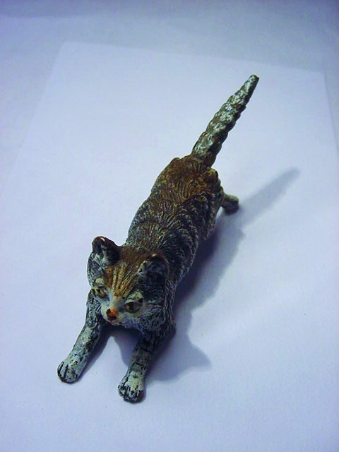 VIENNA BRONZE CAT STATUE