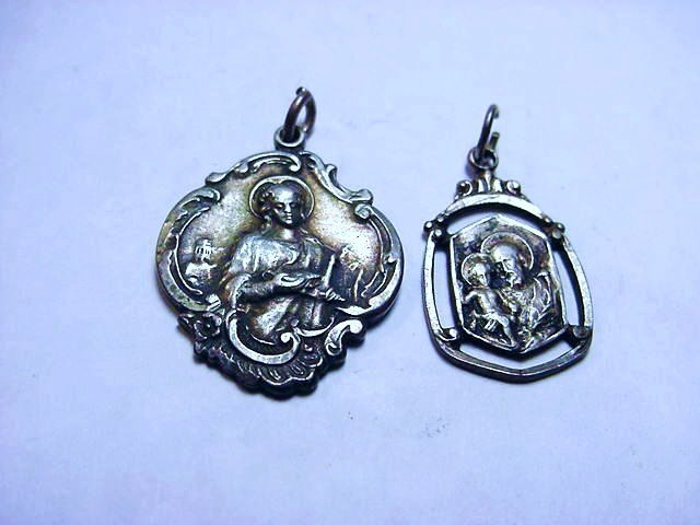 [2] VINTAGE STERLING RELIGIOUS MEDALS