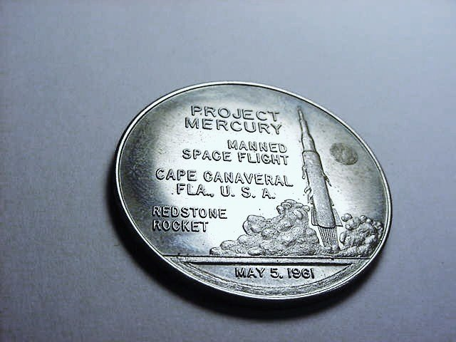 1961 PROJECT MERCURY SPACE MEDAL UNC
