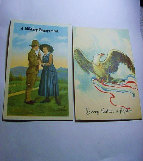 [2] WWI PATRIOTIC POST CARDS