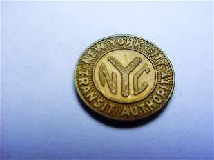 1953 NEW YORK CITY TRANSIT TOKEN