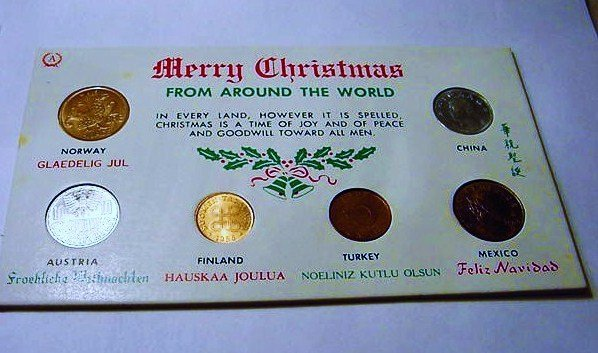 MERRY CHRISTMAS COIN SET