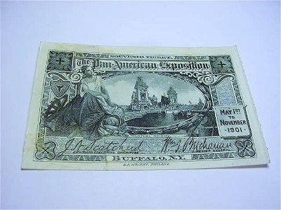 1901 PAN-AMERICAN EXPO TICKET