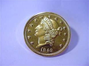 1849 $20 GOLD COIN COPY