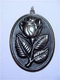 VINTAGE INTERNATIONAL STERLING ROSE PENDANT