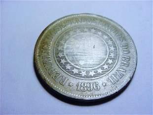 1896 BRAZIL 200 REIS